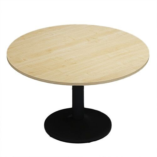 Kito Maple Meeting Room Round Table Black Trumpet Base Dia1200xH725mm