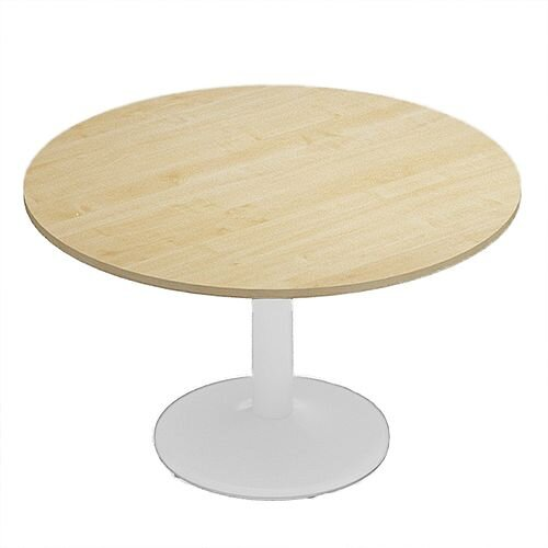 Kito Maple Meeting Room Round Table White Trumpet Base Dia1200xH725mm
