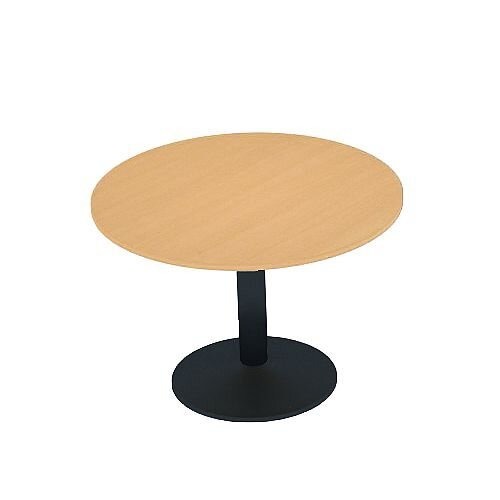 Kito Beech Meeting Room Round Table Black Trumpet Base Dia800xH725mm