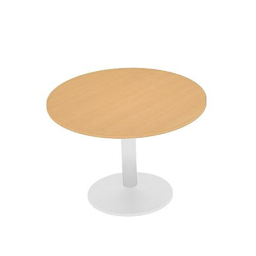 Kito Beech Meeting Room Round Table White Trumpet Base Dia800xH725mm