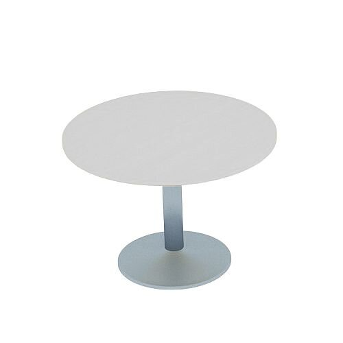 Kito Grey Meeting Room Round Table Silver Trumpet Base Dia800xH725mm