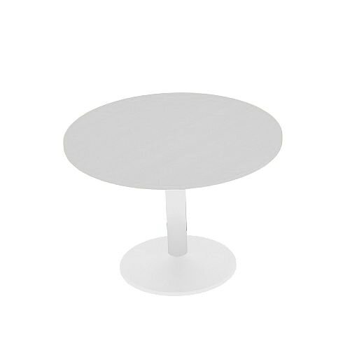 Kito Grey Meeting Room Round Table White Trumpet Base Dia800xH725mm