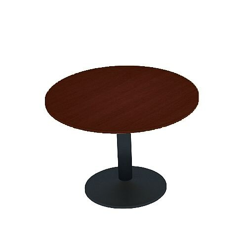 Kito Walnut Meeting Room Round Table Black Trumpet Base Dia800xH725mm