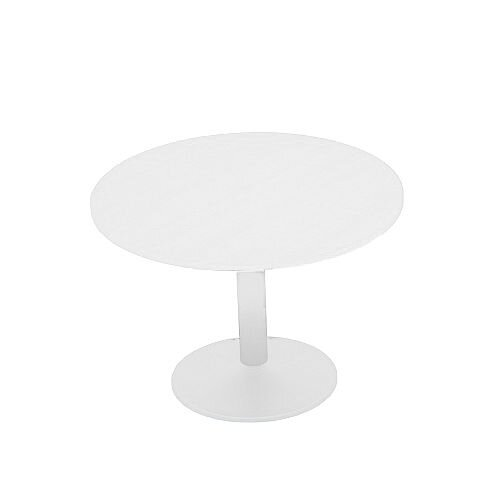 Kito White Meeting Room Round Table White Trumpet Base Dia800xH725mm