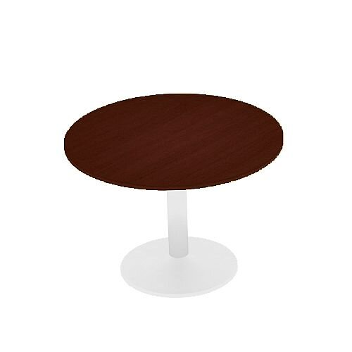 Kito Walnut Meeting Room Round Table White Trumpet Base Dia800xH725mm