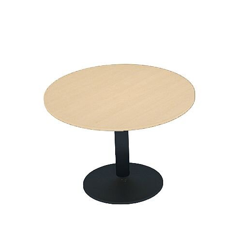 Kito Maple Meeting Room Round Table Black Trumpet Base Dia800xH725mm