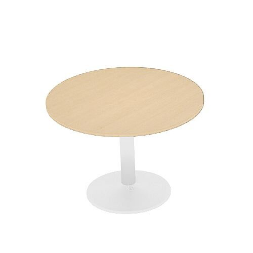 Kito Maple Meeting Room Round Table White Trumpet Base Dia800xH725mm