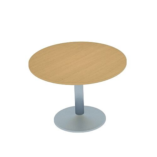 Kito Oak Meeting Room Round Table Silver Trumpet Base Dia800xH725mm