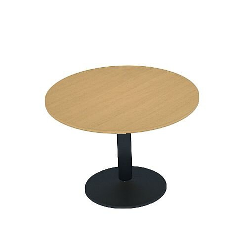 Kito Oak Meeting Room Round Table Black Trumpet Base Dia800xH725mm