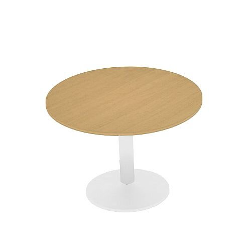 Kito Oak Meeting Room Round Table White Trumpet Base Dia800xH725mm