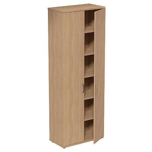 Tall Cupboard with Lockable Doors W800xD420xH2210mm Beech Kito
