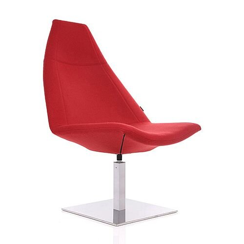 THUNDER Deluxe Designer Lounge Chair Red 100% Wool Fabric Upholstered