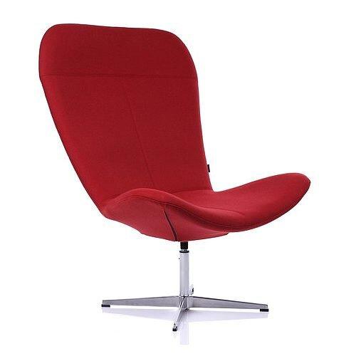 TWIST Designer Reception Lounge Chair Red Fabric