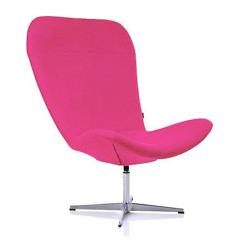 TWIST Designer Reception Lounge Chair Pink Leather Look