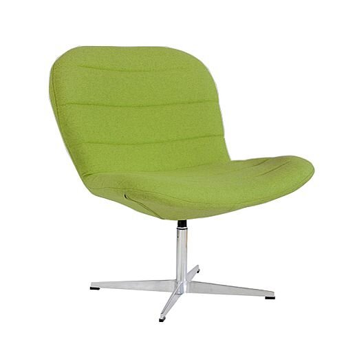 TWISTER Wool Upholstered Reception Lounge Chair Green