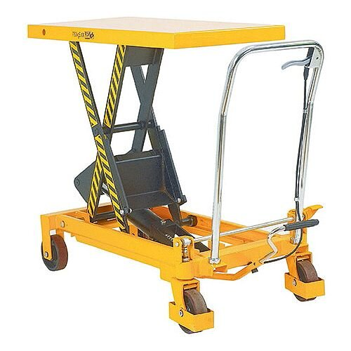 Lifting Table Platform Trolley 500Kg Capacity Yellow/Black 329458