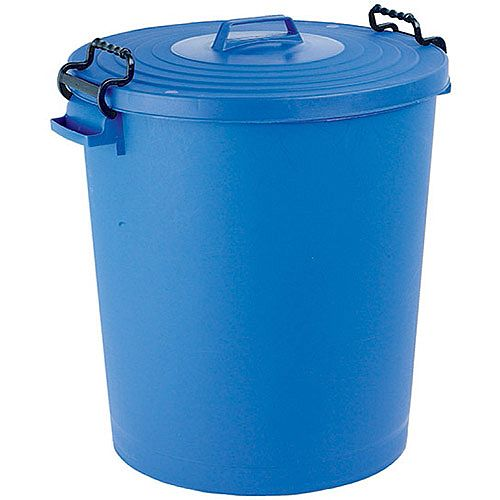 Light Duty Dustbin with Lid 110 Litre Blue - Made from light duty plastic for everyday waste disposal - Tight fitting lid keeps contents dry -  Bright colours enable you to colour coordinate waste disposal