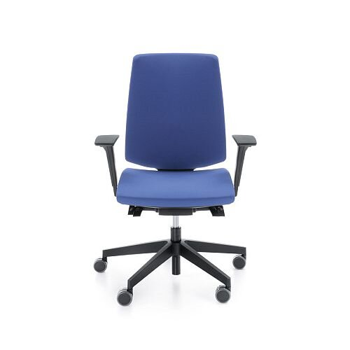 LightUp Modern Design Ergonomic Office Chair With Lumbar Support &Adjustable Arms Blue