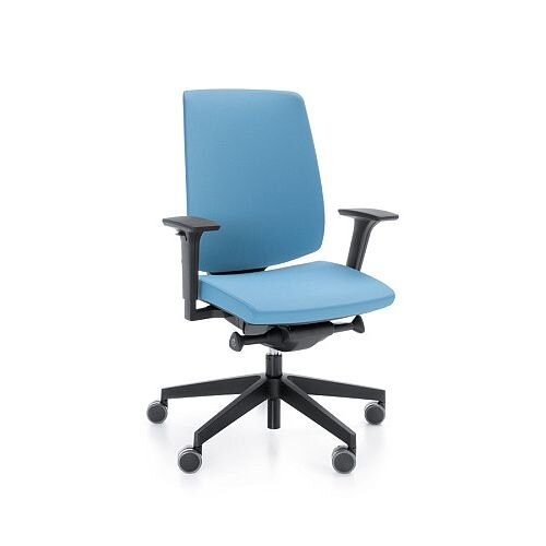 LightUp Modern Design Ergonomic Office Chair With Adjustable Arms Light Blue