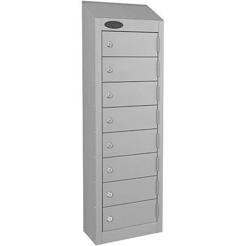 Probe 8-Door Wallet Locker Silver Body &Doors By Lion Steel 100101180/8