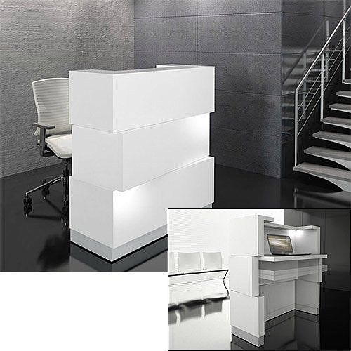 Zen Reception Desk White RD11