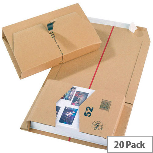 Mailing Cardboard Boxes 251x165x60mm Brown Pack of 20