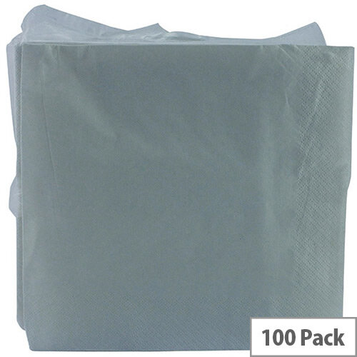 White Paper Disposable Napkins 2-Ply Tissue 330x330mm Pack of 100 KBLRY1652