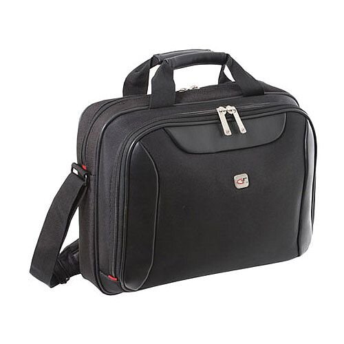 Gino Ferrari Black Helios Laptop Business Bag 16in GF542