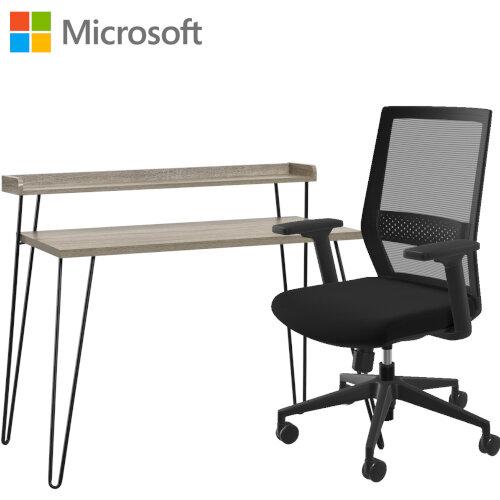 Microsoft Home Office Desk &Chair Bundle - Distressed Grey