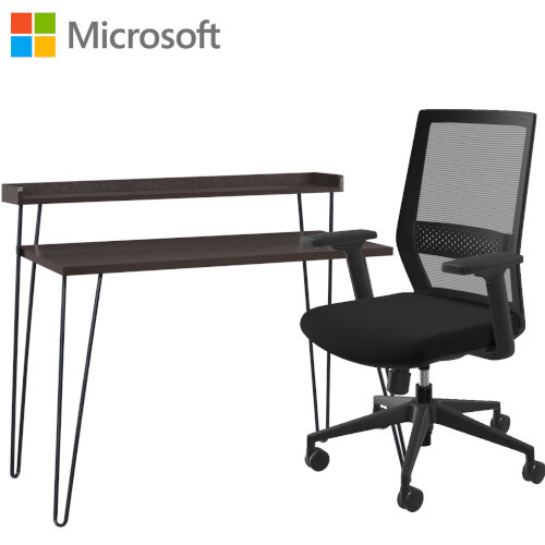 Microsoft Home Office Desk &Chair Bundle - Espresso
