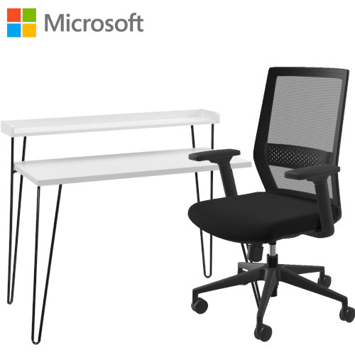 Microsoft Home Office Desk &Chair Bundle - White