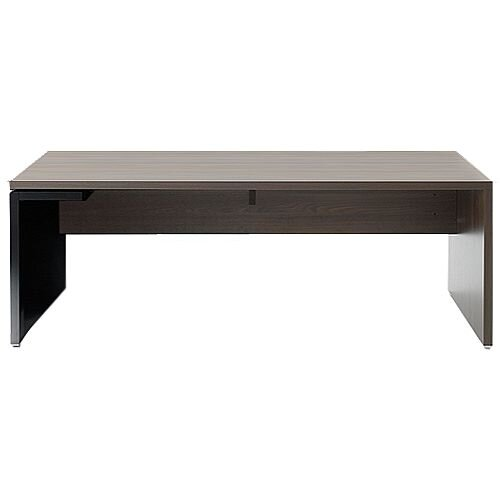 Mito Executive Desk 2000mm Dark Sycamore &Black