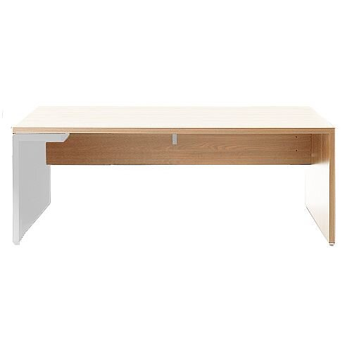 Mito Executive Desk 1800mm Light Sycamore &White