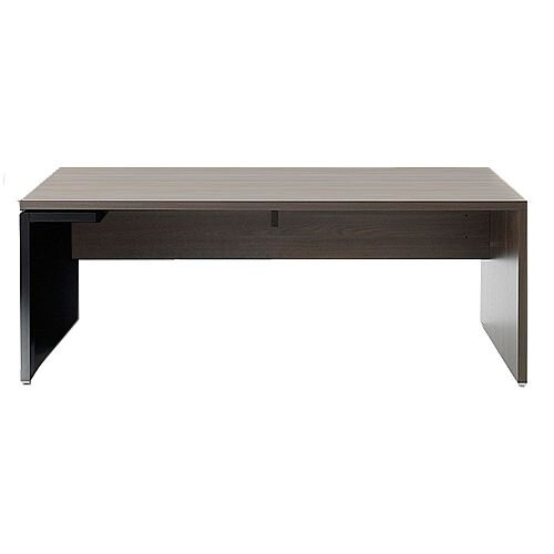 Mito Executive Desk 1800mm Dark Sycamore &Black