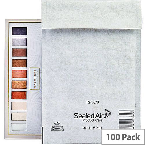 Mail Lite Plus Bubble Lined Size D/1 180x260mm Oyster White Postal Bags Pack of 100