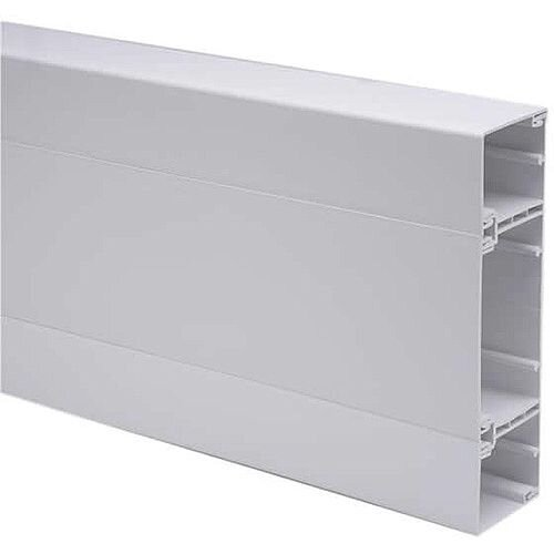 3 Comp Square Trunking 3m lgth - White