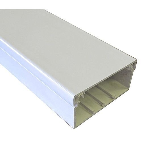100mm x 50mm PVC Maxi Trunking 3m lgth - White