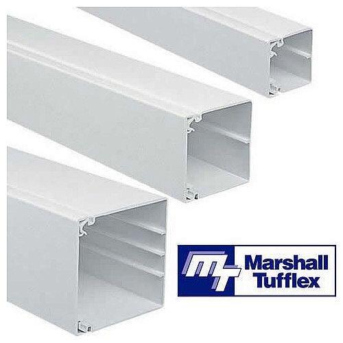 50mm x 50mm PVC Maxi Trunking 3m lgth- White