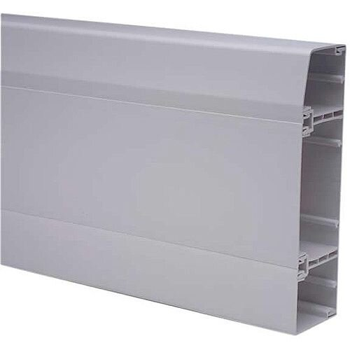 3 Comp Skirting Trunking 3m lgth - White