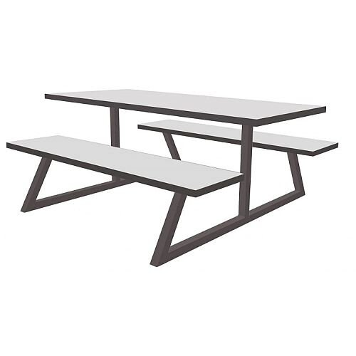 Nevada Fully Welded Table &Bench Set