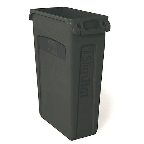 Rubbermaid Slim Jim Recycling Bin Container Black 87L Base Without Lid 3540-60-BLA