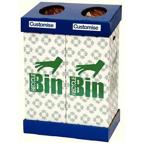 Acorn Office Twin Recycling Bin 190 Litres (2 x 95 Litres) 802853