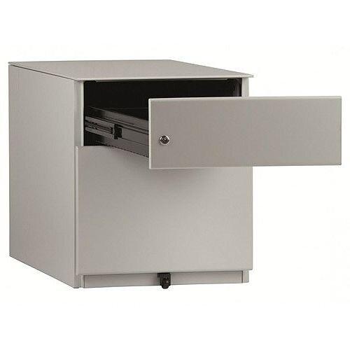 Bisley Note 2 Drawer Grey Desk Pedestal