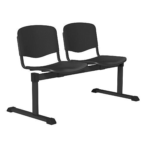 OI Series 2-Seater Bench Plastic Seat Black