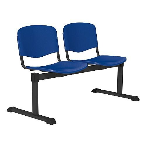 OI Series 2-Seater Bench Plastic Seat Blue