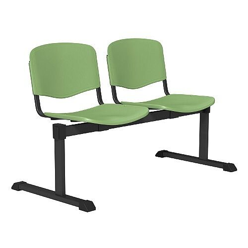 OI Series 2-Seater Bench Plastic Seat Green