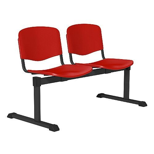 OI Series 2-Seater Bench Plastic Seat Red