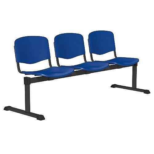 OI Series 3-Seater Bench Plastic Seat Blue