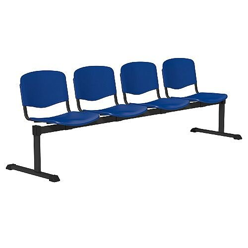 OI Series 4-Seater Bench Plastic Seat Blue