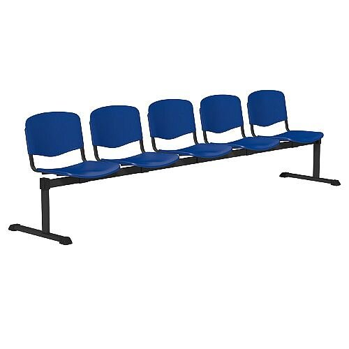 OI Series 5-Seater Bench Plastic Seat Blue